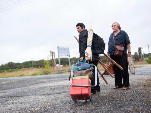 Gérard Depardieu et Sadek sur la route