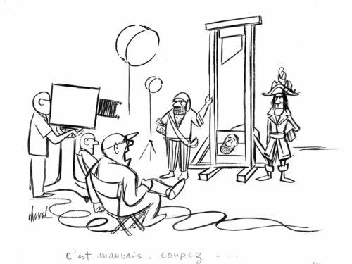 dessin scène de tournage cinéma